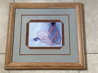 R C Gorman Vintage Print Wood Frame with glass MATTED Navajo 23 x 21