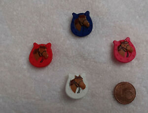 Kinderknöpfe Hufeisen mit Pferd  mit Öse 20mm