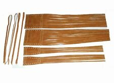 New For Indian Chief Handlebar Lever Grip Cover Fringe Tassel Tan Pure Leather