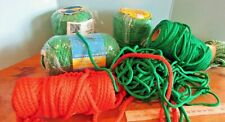 5+ lbs of Vintage 6 mm Macrame Cord Craft Rope Yarn Crochet Projects green/red