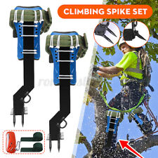 Tree Climbing Spike Spurs, Belt Straps Rope, Adjustable Lanyard Stainless Steel