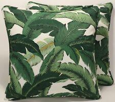 "2 18"" Tommy Bahama Outdoor Island Hoppin Emerald Decorative Throw Pillows & Form"