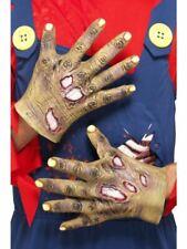 Guantes de látex Smiffys en descomposición Zombie Halloween Vestido de fantasía