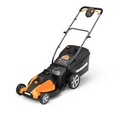 "WORX WG744 2X20V PowerShare 17"" Cordless Electric Lawn Mower with Mulch Plug"