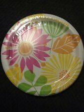 """Floral Kaleidoscope 8 Count Paper Dinner Plates 8 3/4""""  Birthday Party Shower"""