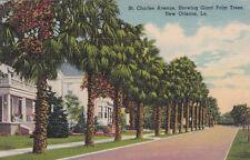 St Charles Avenue New Orleans Curt Teich Postcard Unused VGC