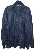 """VINTAGE 80's Lacoste """"The Lacoste Club"""" Blue Full Zip Windbreaker Jacket XL"""