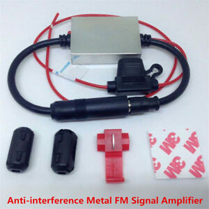 Universal Metal Anti-interference FM Signal Amplifier Car Radio Antenna Booster