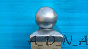 120mm x120mm  GALVANISED SQUARE  METAL FENCE POST CAP TOP  WITH BALL 100mm