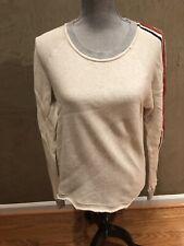 Splendid Top Long Sleeve Cotton Off White SZ S