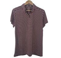 Nike Women's XL Dri-Fit Golf Striped Polo Shirt short Sleeve Burgundy New NWT