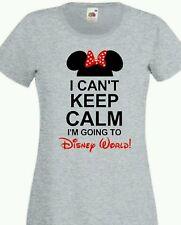 cant keep calm disney world minnie t shirt fotl sizes 8-16 ladies multi-listing