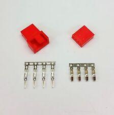 MASCHIO & FEMMINA 4 PIN PC FAN LED connettori di alimentazione - 1 di ogni-Rosso Inc PIN