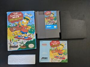 the Simpsons Bart vs the Space Mutants Authentic Nintendo NES EX+COMPLETE n box