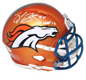 Champ Bailey Autographed Denver Broncos Blaze Mini Helmet HOF JSA 23981
