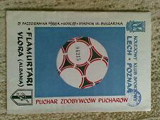 Programme Lech Poznan - Flamurtari Vlora 5.10.1988 Cup Winners Cups