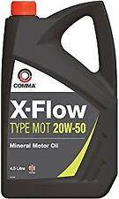 COMMA 4.5L X-FLOW TYPE MOT 20W50 MINERAL MOTOR OIL 4.5 LITRE