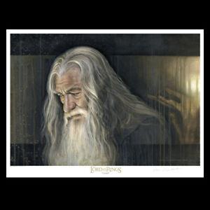 LOTR Weta Gandalf Paper Giclee Print by Jerry VanderStelt LE 100/250 17 X 22 COA