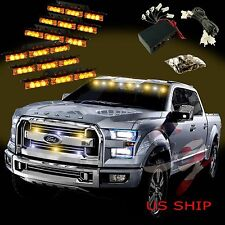 54 LED Car Truck Strobe Emergency Warning Light for Deck Dash Grill Amber Yellow