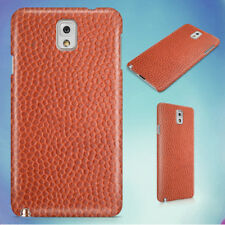 ORANGE LEATHER IMAGE HARD CASE FOR SAMSUNG GALAXY PHONES