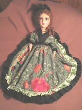 "Antique/Vintage Boudoir Doll - Cloth & Composition - 27"" - Lovely Brunette"
