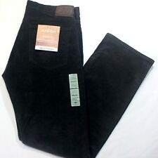 Men Dockers Jean Cut Straight Fit Flat Front Stretch Corduroy Black Pants XX0072