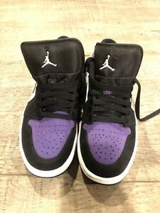 Size 8.5 - Jordan 1 Low Court Purple - 553558-125