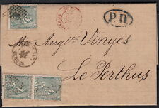 Spain Cover to France >> Rare Rate Frontier Gerona To Perthus