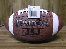Spalding J5J Top Grain Leather Junior size football for ages 9-12. New