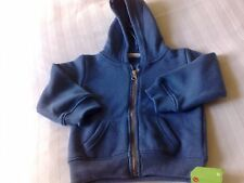 Hooded cardigan in blue 12-18 months new