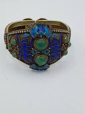 Antique Chinese export silver Gold Filigree BANGLE/BRACELET Silver punziert