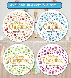 Merry Christmas Stickers Label Santa present MATT 24 & 35
