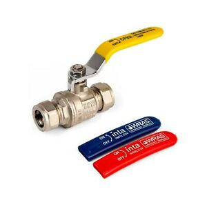 Inta Compression 15mm 22mm 28mm Universal Lever Ball Valve Gas & Water IN89ALGWC