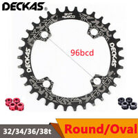 DECKAS MTB Bike 96BCD 32/34/36/38T Narrow Wide Round Oval Chainring Crankset