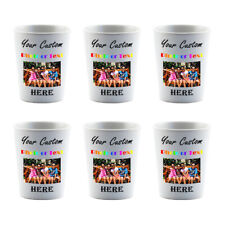 Personalized 6 Shot Glasses Dye Sublimation Groomsman Bridesmaids Custom Gift