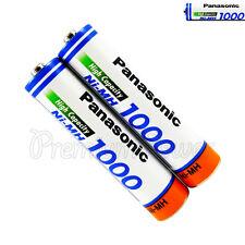 2 x Panasonic AAA batteries Ni-MH 1000 930mAh Rechargeable High capacity HR03
