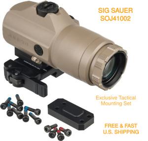 SIG SAUER SOJ41002 4x24mm QD Mount W Free Spacers Flip To Side Magnifier JULIET4