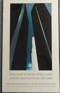 """Georgia O'Keeffe 1978 City Night Lithograph Poster Whitney Museum 22.75 x 37.25"""""""