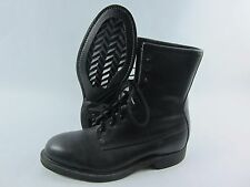 Vintage Wolverine ANSI Steel Toe Leather Boot Black Size 7W Military Motorcycle