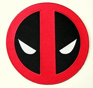 """Official Marvel Comics Deadpool Logo Large 7.1"""" Cloth Back of Jacket Patch New"""