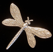 Dragonfly Pin Brooch Antiqued Silver Plate Art Nouveau Replica Vintage Inspired