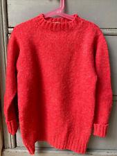 Fab Vintage Shetland Wool Kids Jumper. Size 6-8