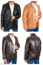 Leather Blazers Regular Size Coats & Jackets for Men
