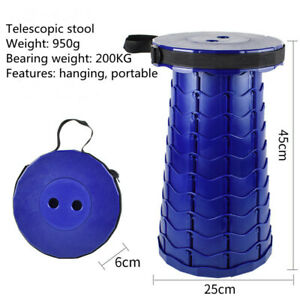 Outdoor Retractable Stool Chair Portable Folding Camping Fishing Collapsible
