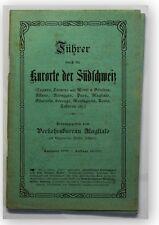 Führer durch die Kurorte der Südschweiz 1908 Ortskunde Landeskunde Geografie xy