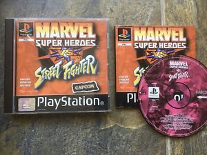 Marvel Super Heroes Vs Street Fighter Ps1 Game! Complete! Look In The Shop!