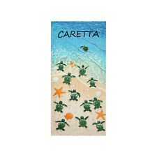Sea Turtle Caretta Beach Towel, 100% Cotton Soft Absorbent Turkish Bath Towel