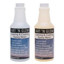 Epoxy Resin Crystal Clear Coating General Purpose Bar Tabletop - 32 Ounce Kit