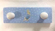 Handmade & Decoupaged Beatrix Potter Peter Rabbit Coat Hook Hanger Nursery