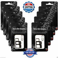 10X Nano SIM Card to Micro Standard Adapter Converter Set For any phone with sim